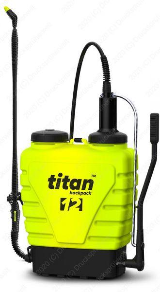 Titan 12V Rückensprüher mit 12 L Tank, Edelstahllanze, Viton-Dichtungen